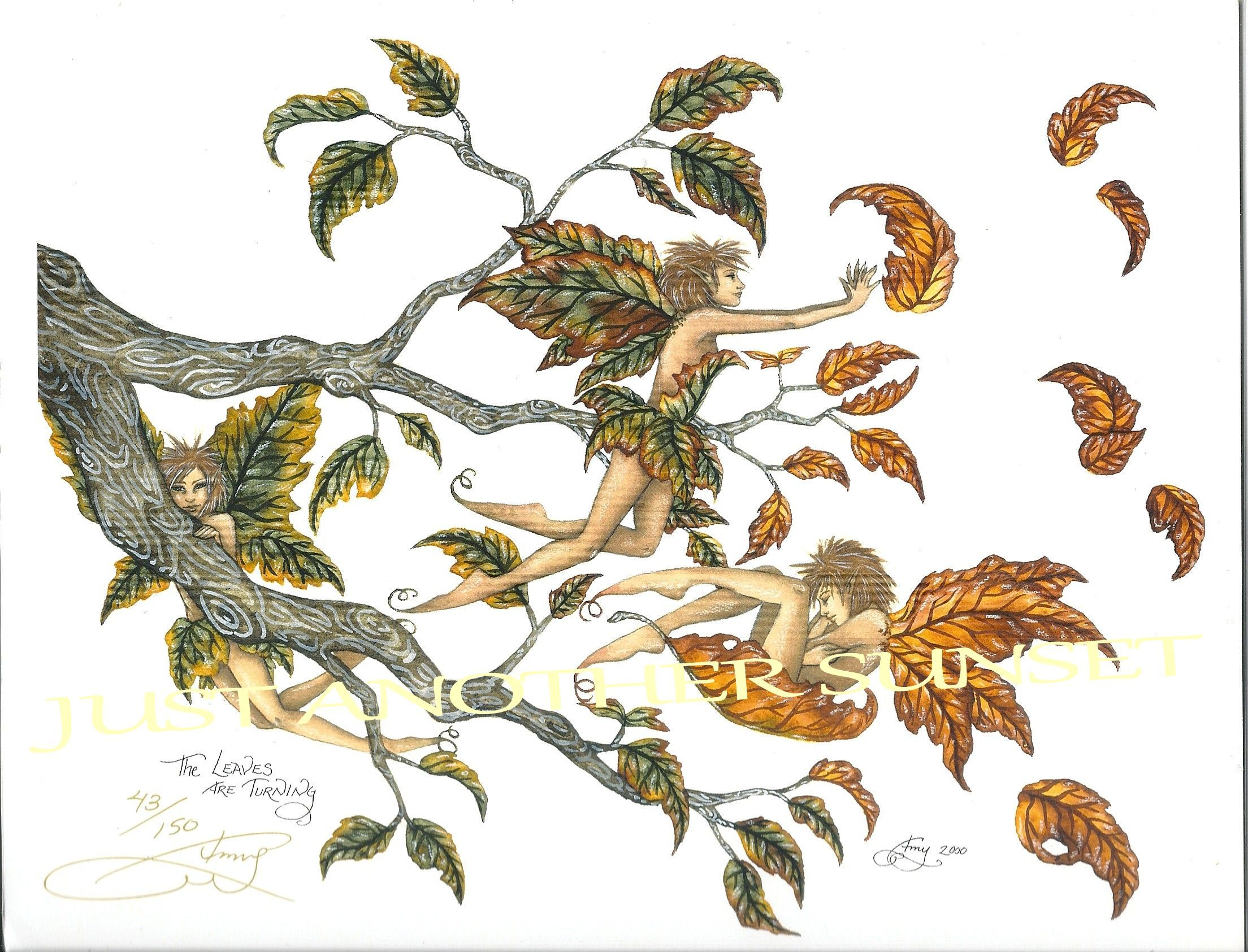 The Leaves are Turning, Limited Edition Print hand signed and numbered by artist Amy Brown