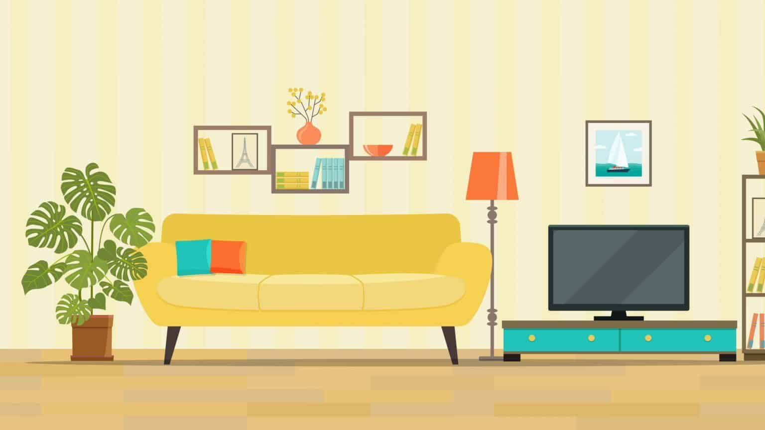 Benefits Of Minimalism 7 Simple Ways Decluttering Has Changed My Life Living Room Clipart Living Room Interior Shelving Units Living Room