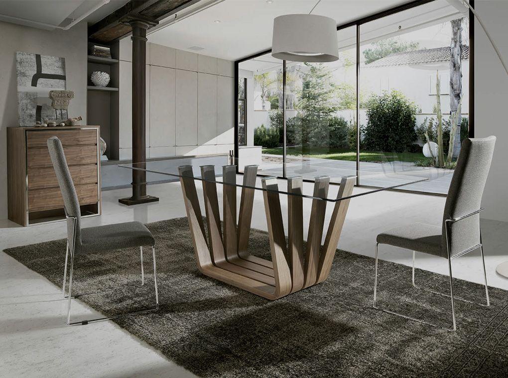 Mesa de comedor mi 1358 sillas tapizadas bz615 mueble for Muebles angel cerda