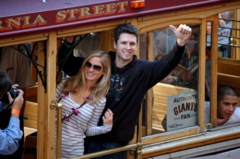 Buster Posey Catcher For The Giants Baseball Team And His Wife Sf Giants Giants Baseball Buster Posey