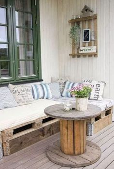 mobel aus paletten fur balkon, 18 ideen für sofa aus europaletten | möbel | pinterest | balconies, Design ideen