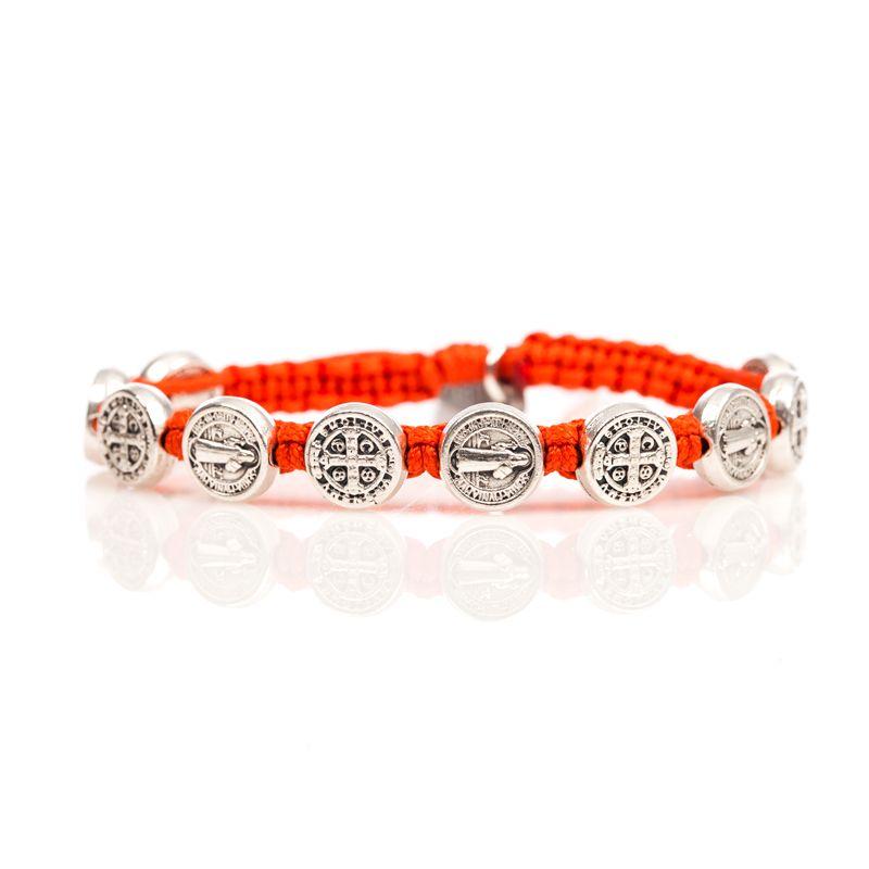 My Saint My Hero | Benedictine Blessing Bracelet – Silver Medals Orange #orangejumpsuit #prayforpeace