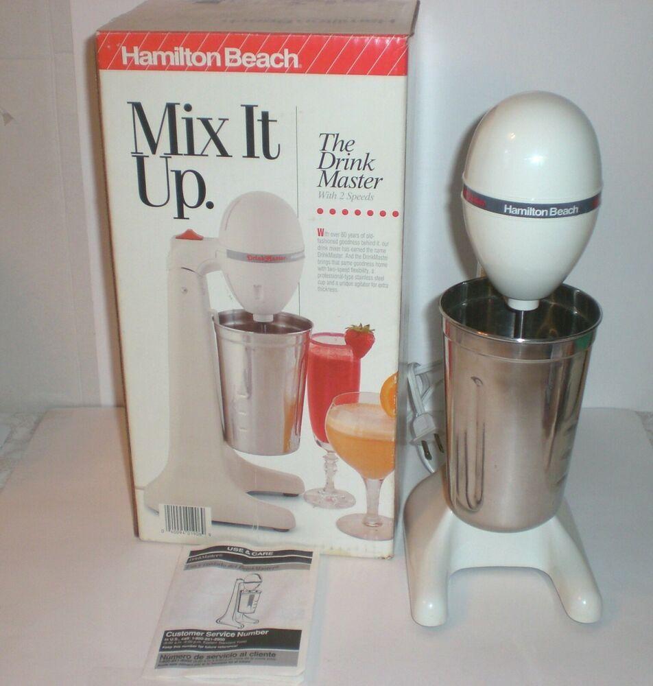 Hamilton beach drinkmaster electric drink mixer milkshake