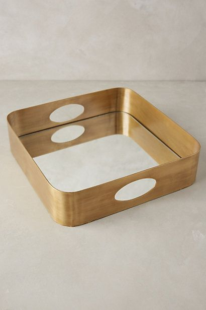 Decorative Mirror Tray Gorgeous Brass Mirrored Tray  Brass Mirror Mirror Tray And Trays Inspiration Design