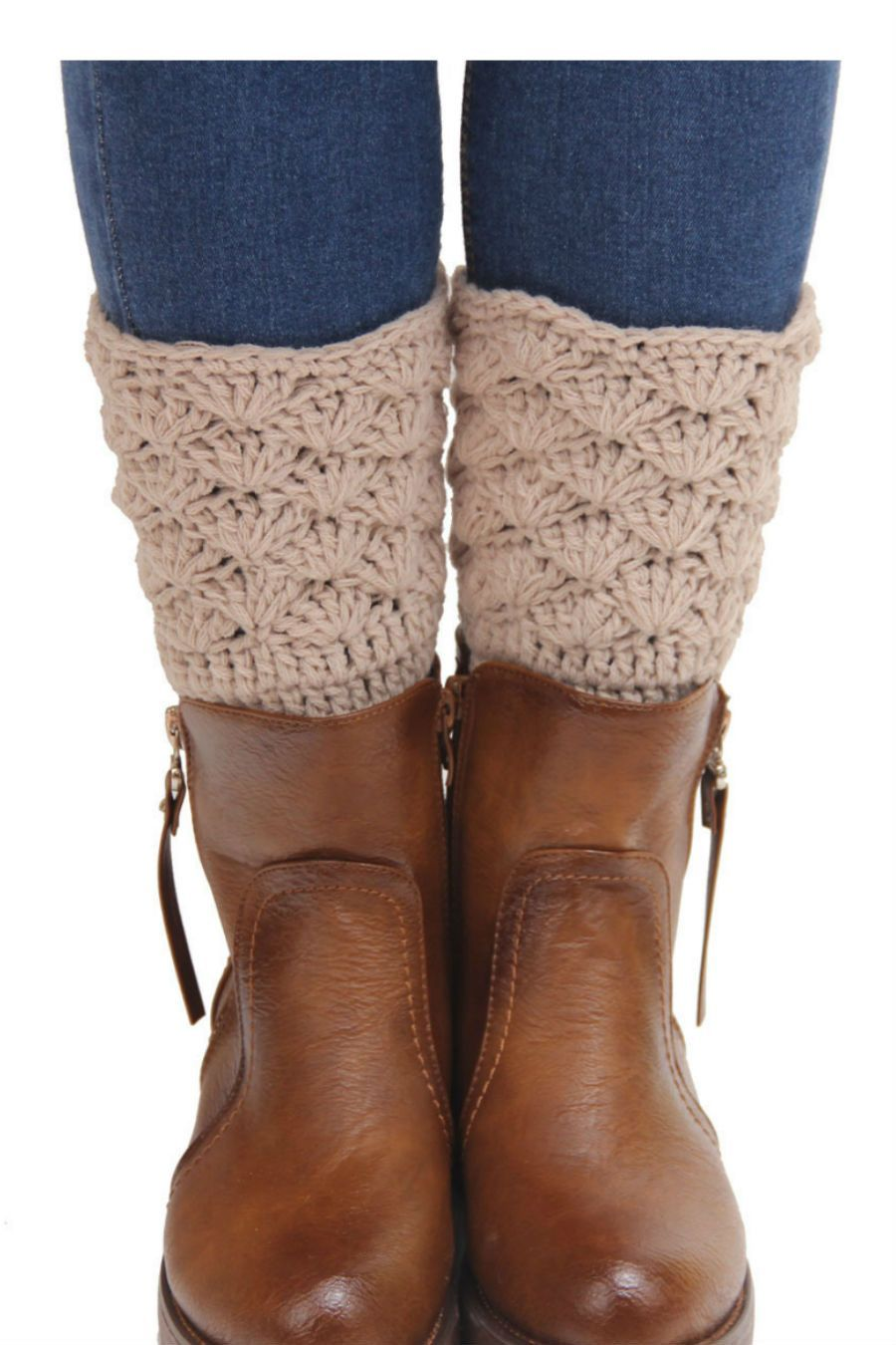Vintage Beige Crochet Boot Cuffs | Botas, Bufanda cuello y Tejido