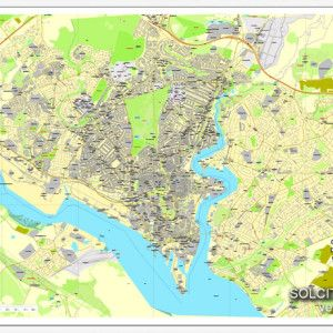 Southampton England UK Great Britain printable vector street City