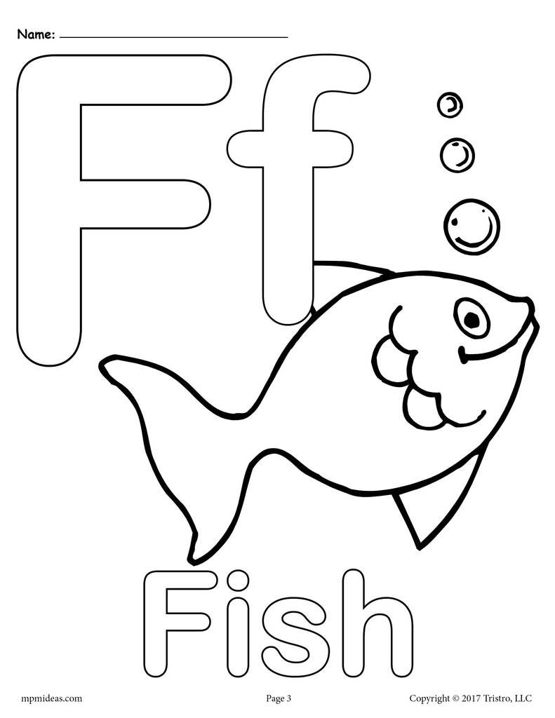 Letter f alphabet coloring pages 3 free printable versions