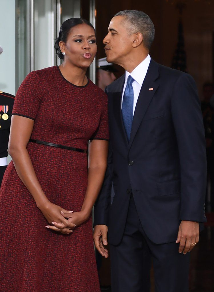 Might Be the Most Powerful Red Dress Michelle Obama's Ever Worn
