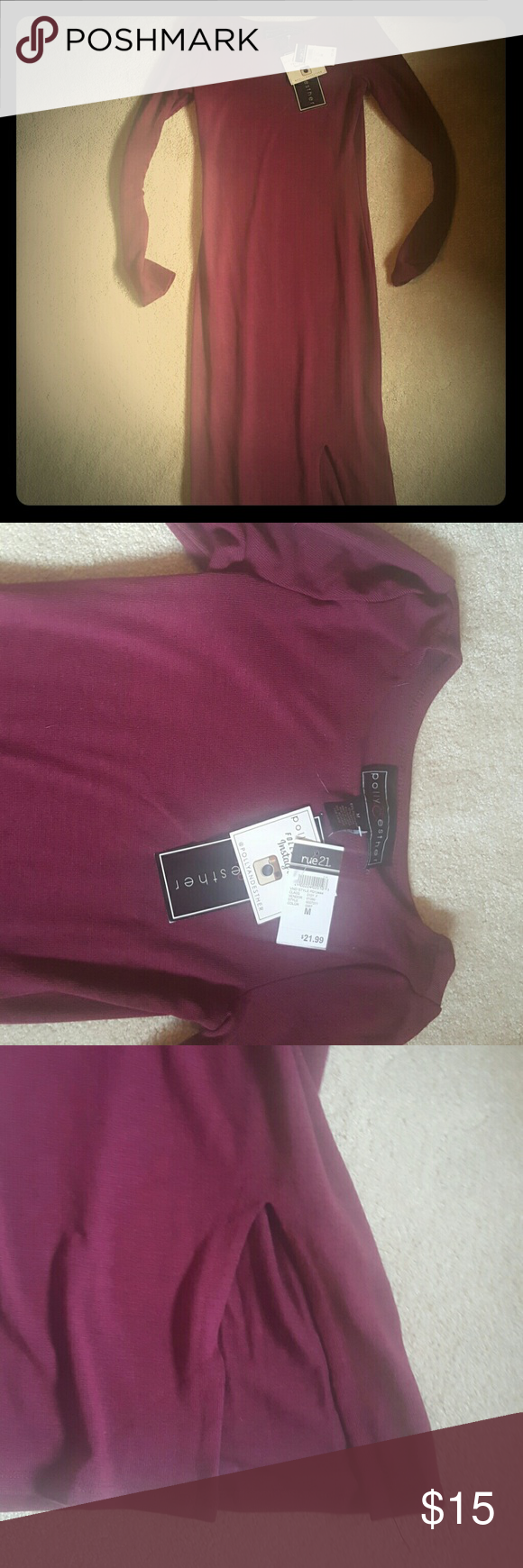 Body con dress long Long sweater dress was to small for me so never worn and still has the tags!:) Dresses