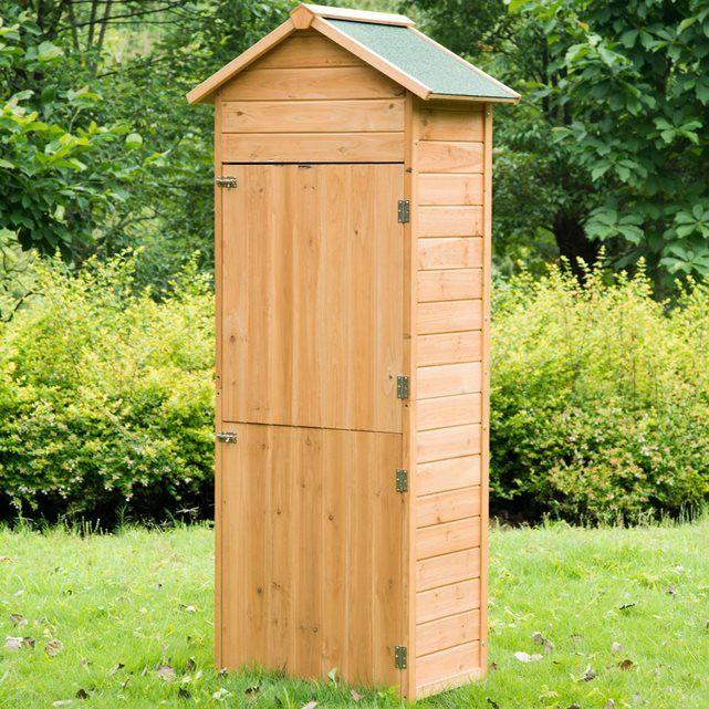 Armoire de jardin en bois | Bois traité, Lasure et Outils de jardin