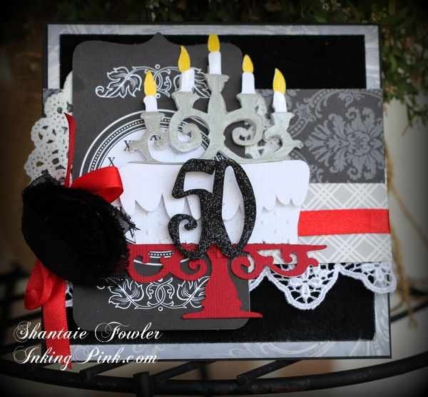 """A Fabulous """"50"""" card made with Cricut Over The Hill ..."""