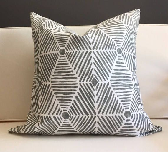 22X22 Pillow Insert Simple Pillow Cover Gray Ikat Pillow Cover  Fynn  Manchester  Pinterest Inspiration Design