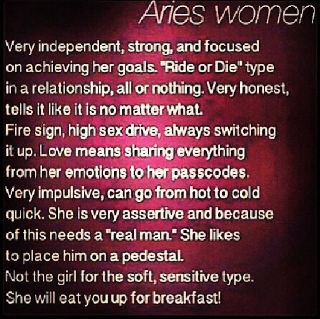 Say aries to woman what to 14 Things