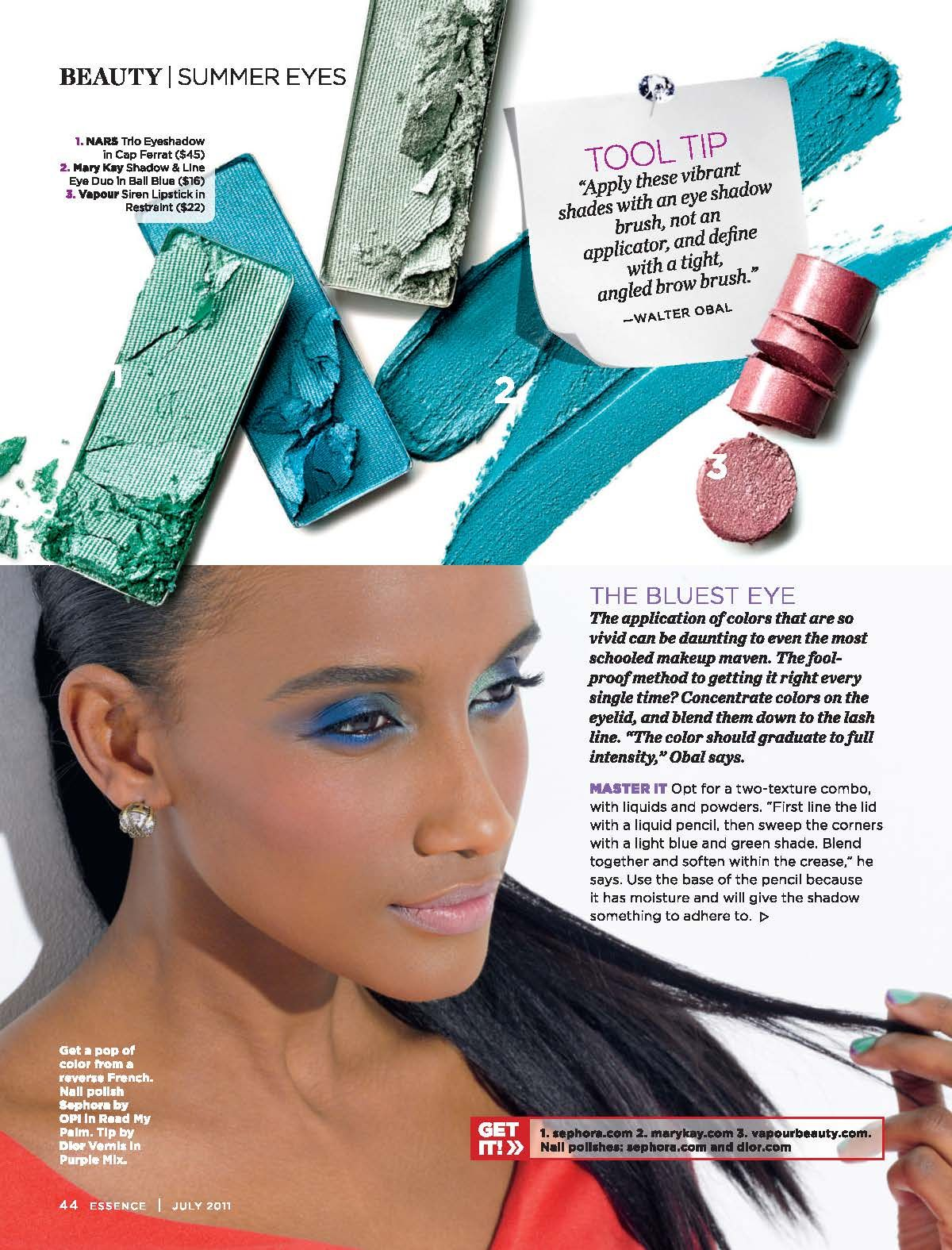Blue eye make up. Perfect for day time. Skin undertones