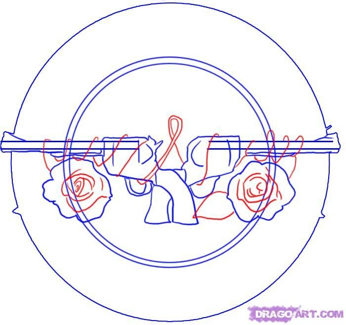 How To Draw Guns N Roses Symbol Step 510000000010565g 700658