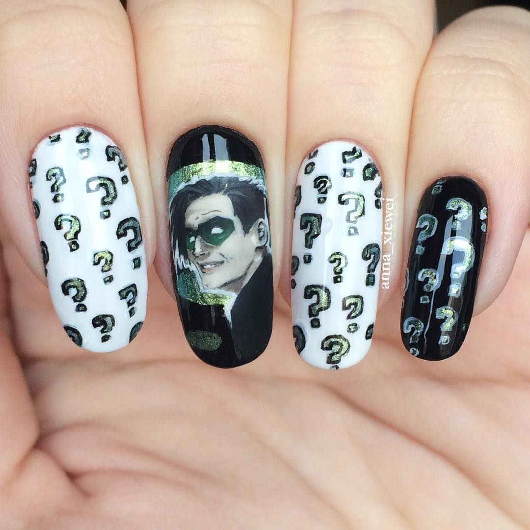 DC Comics Nail Art Inspiration Source Instagram Riddler (Ed Nigma ...