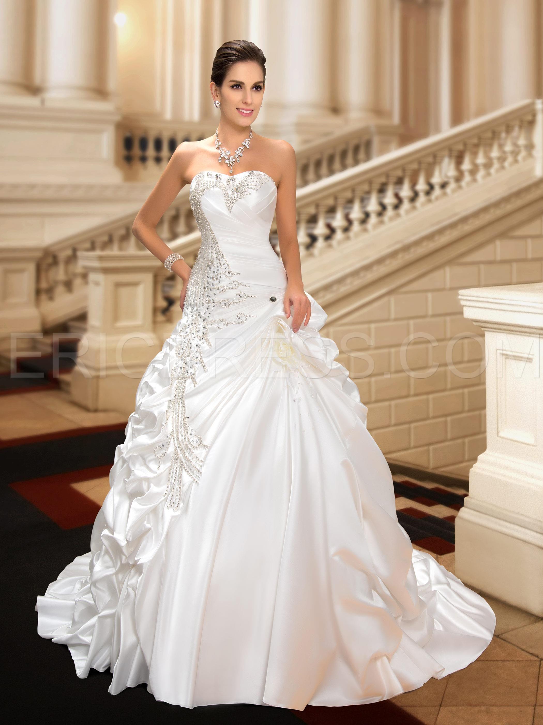 Glamorous Sweetheart Crystal Ball Gown Wedding Dress | Wedding dress ...