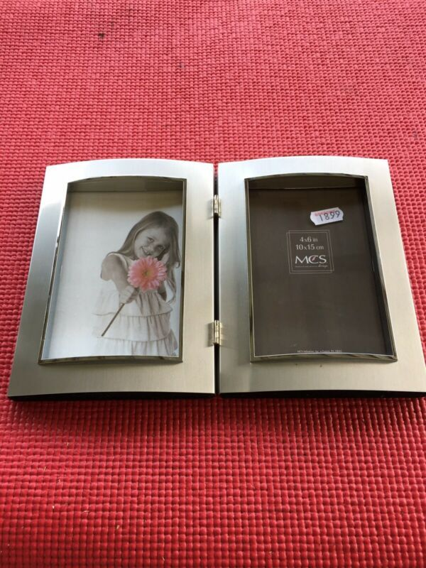 Details About Mcs 4x6 Inch 10x15 Cm Double Photo Frame Color Silver Good Condition In 2020 Double Photo Frame Photo Frame Double Photo