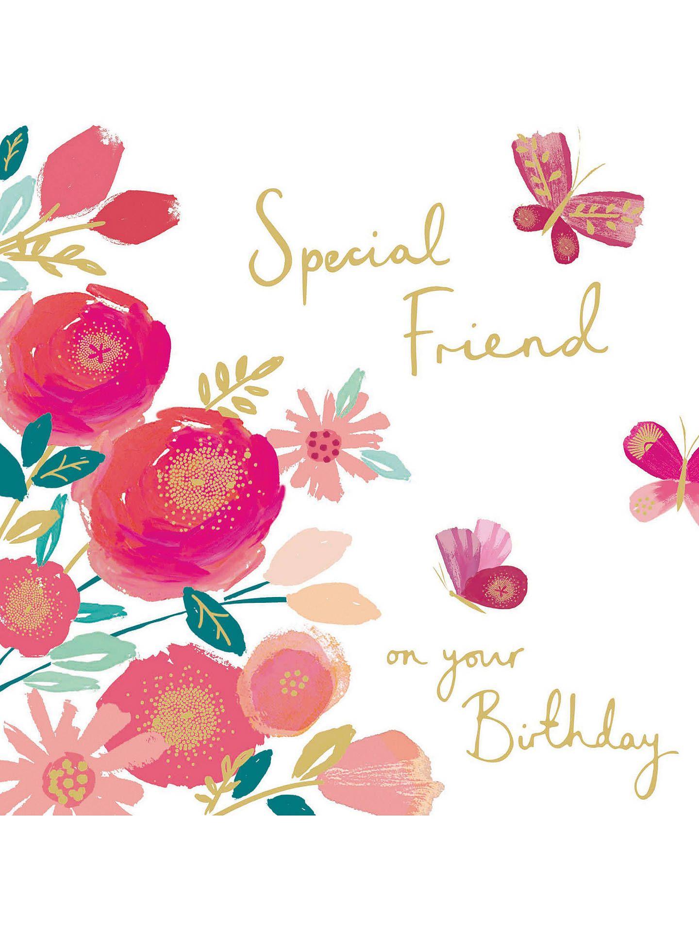 Woodmansterne Floral Spray Birthday Card Birthday card