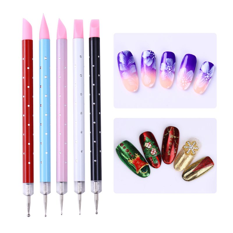 5Pcs Dual-ended Carving Sculpture Painting Pen Silicone Pink Head ...