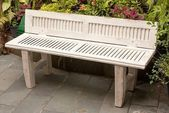 Photo of Bench from old louvered door #bench #Door #Louvered #bench #Door #Louvered