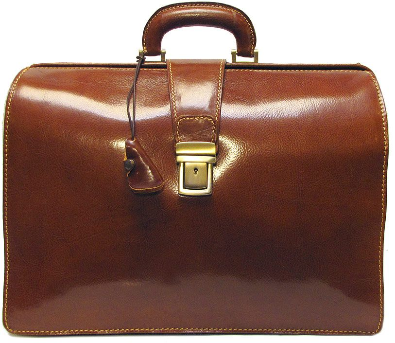 The Ciabatta Men's Italian Leather Briefcase Bag is designed to be ...