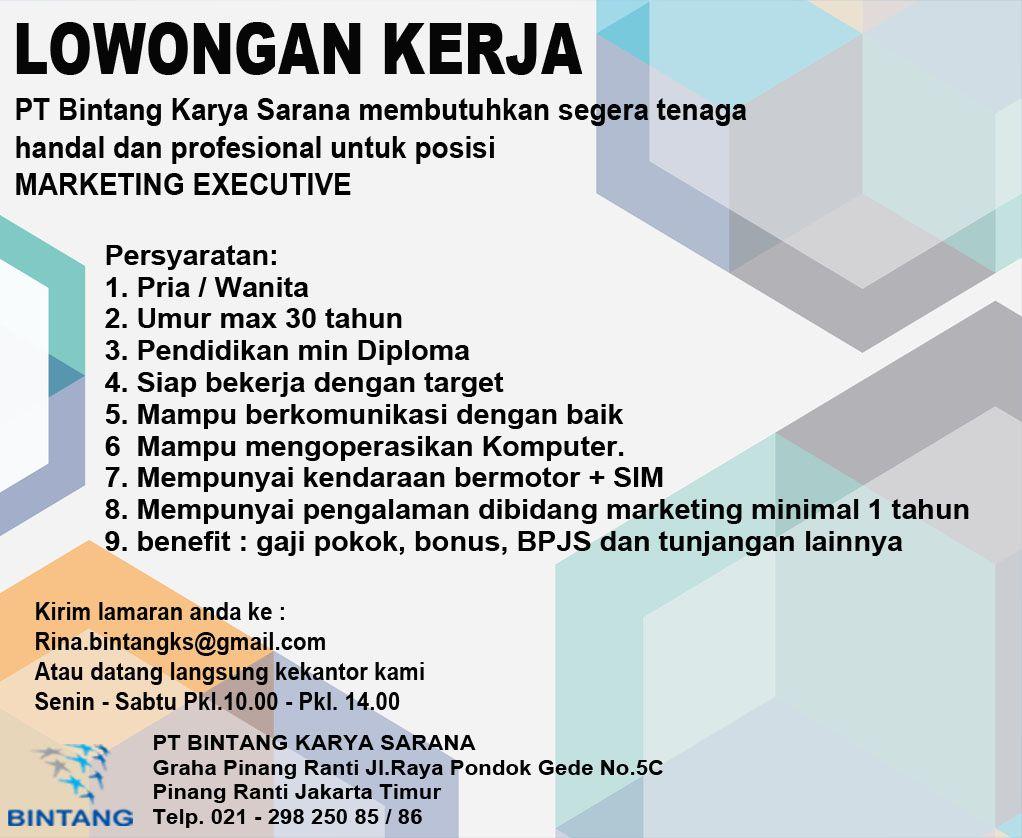 Iklan Lowongan Kerja oleh PT Bintang Karya Saranajj