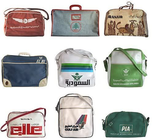 3e23e5dd63 A collection of vintage airline bags from Troyland.