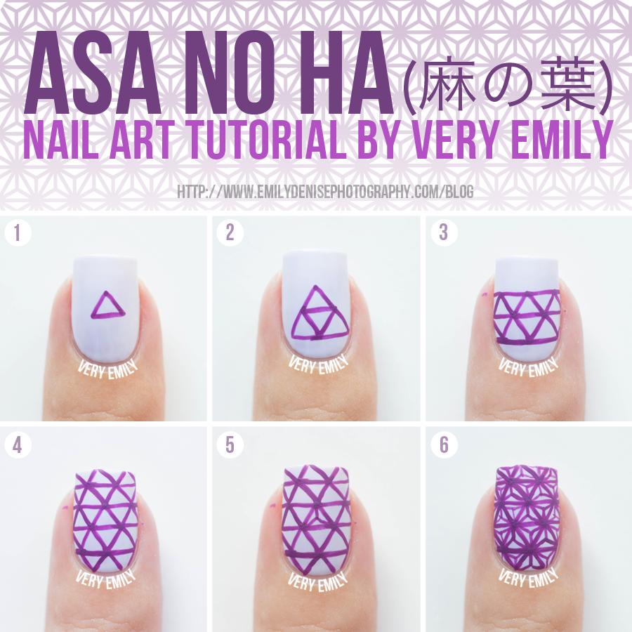 Very Emily Asa No Ha Nails Tutorial Anese Nail Arttutorial