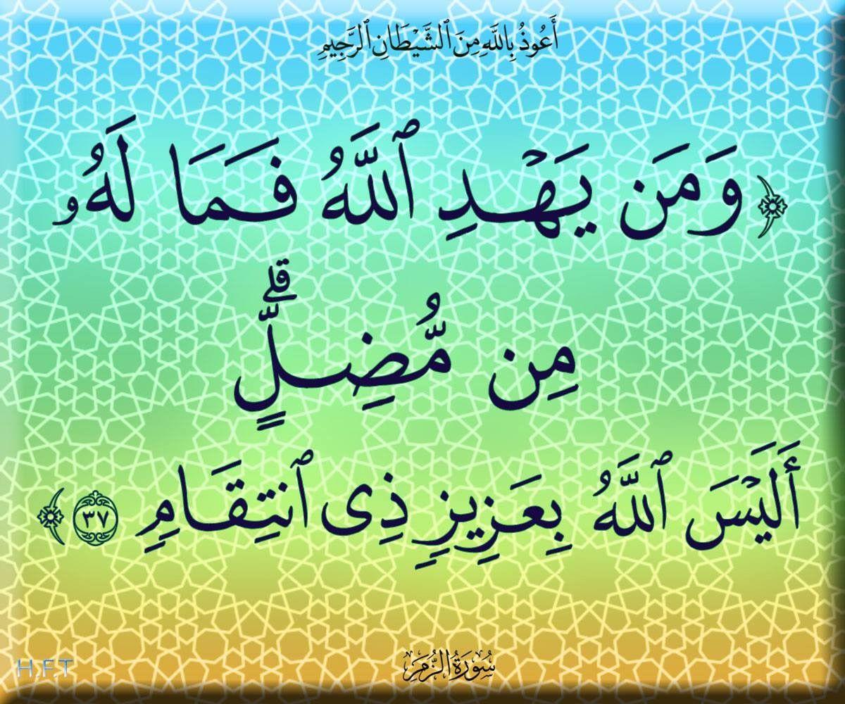 ٣٧ الزمر Calligraphy Arabic Calligraphy