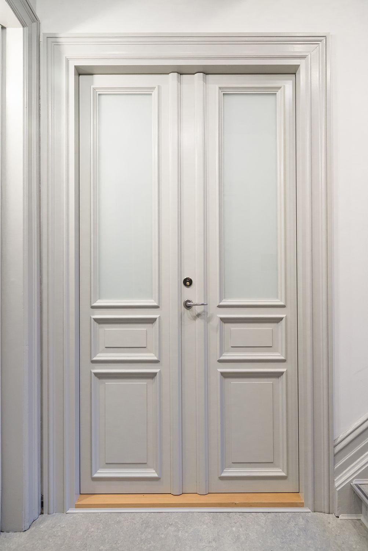 This Interior Double Door Is A Copy Of The Original Door To Preserve The Cultural Heritage The Top Panel Is Ma Double Doors Interior Doors Interior Fire Doors