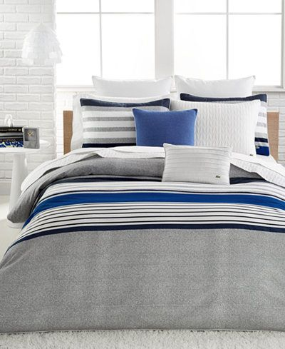Lacoste Auckland Blue Twin Twin Xl Comforter Set Bedding