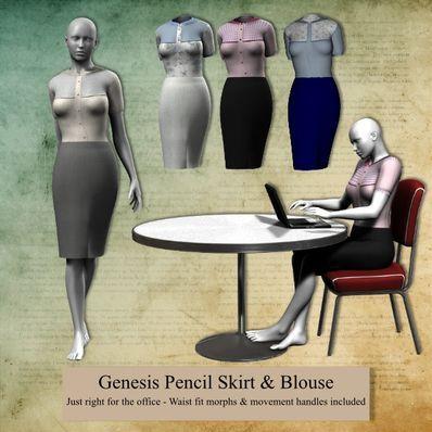 Genesis Pencil Skirt & Blouse. That timeless look!
