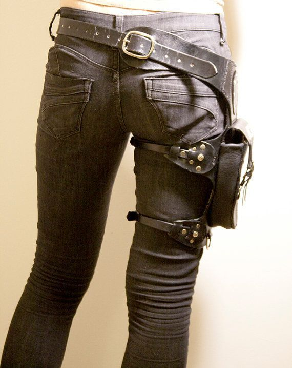 Holster belt purse with a worn look.  29956a2345c8