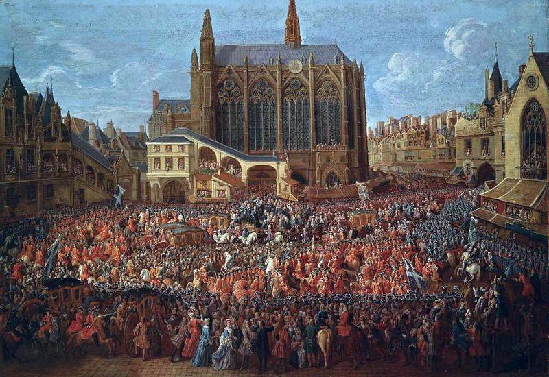 1715.Départ de Louis XV après le lit de justice. Départ de