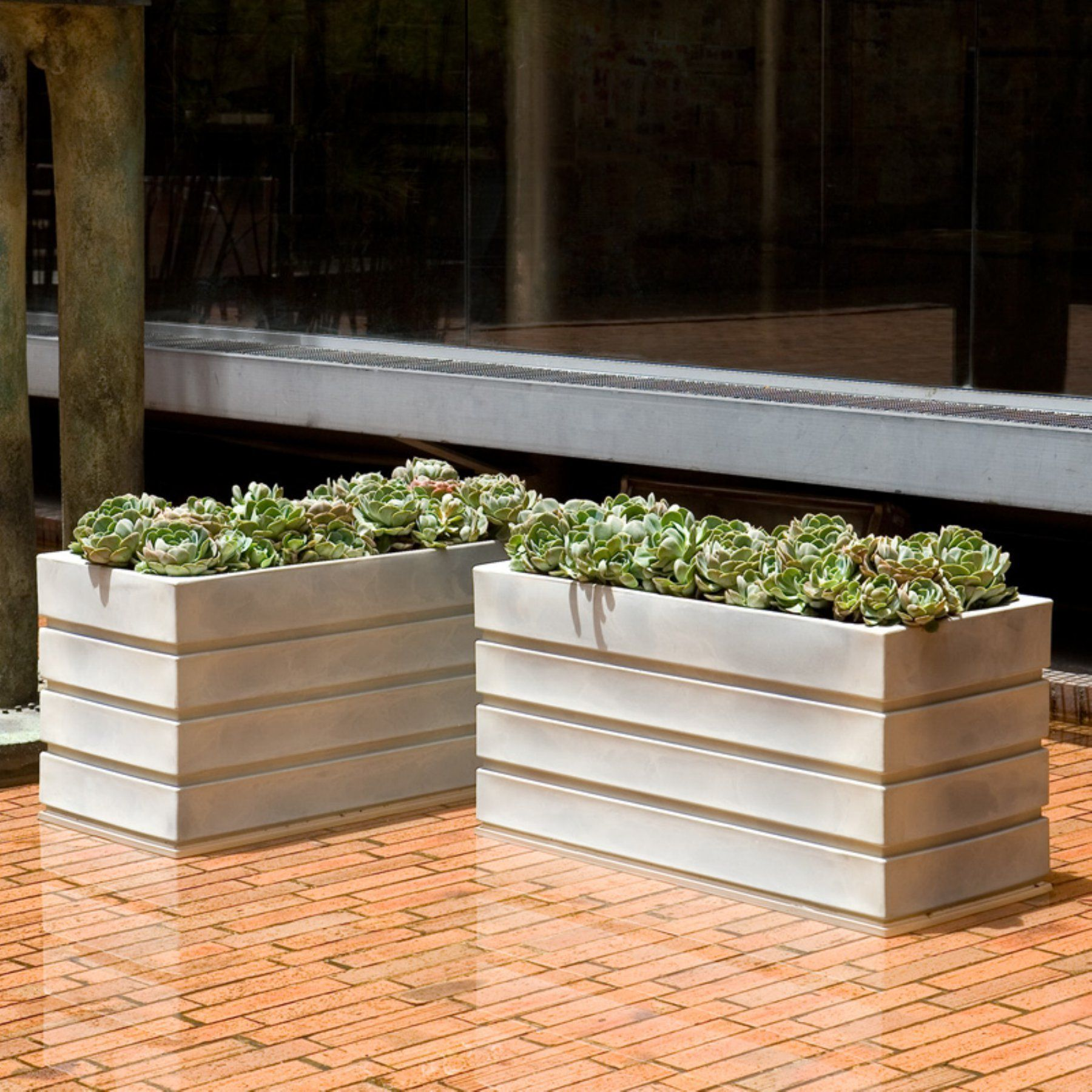 Rectangle Resin Ellis Planter Outdoor planter designs