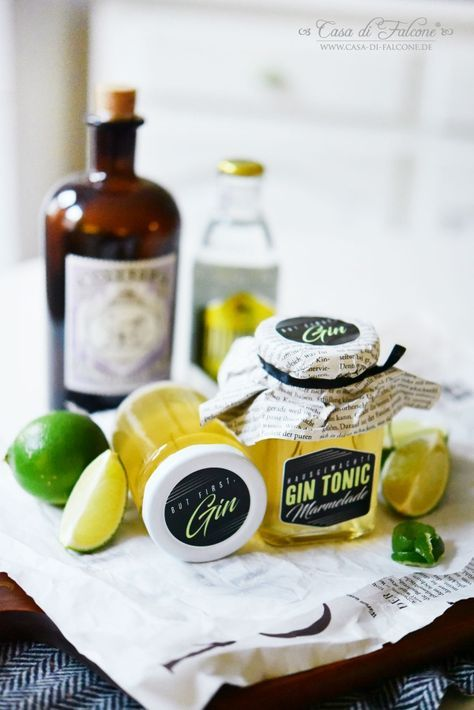 Photo of Gin and tonic jam recipe & packaging idea