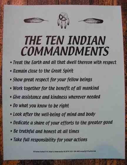 Ten indian commandments my heritage pinterest native americans ten indian commandments fandeluxe Images