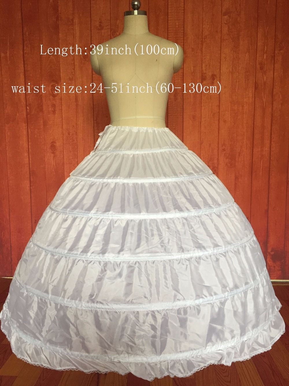a6ae8ca52e2b 6-HOOP Wedding Prom Ball Petticoat Wedding Gown Crinoline Petticoat Skirt  Slip