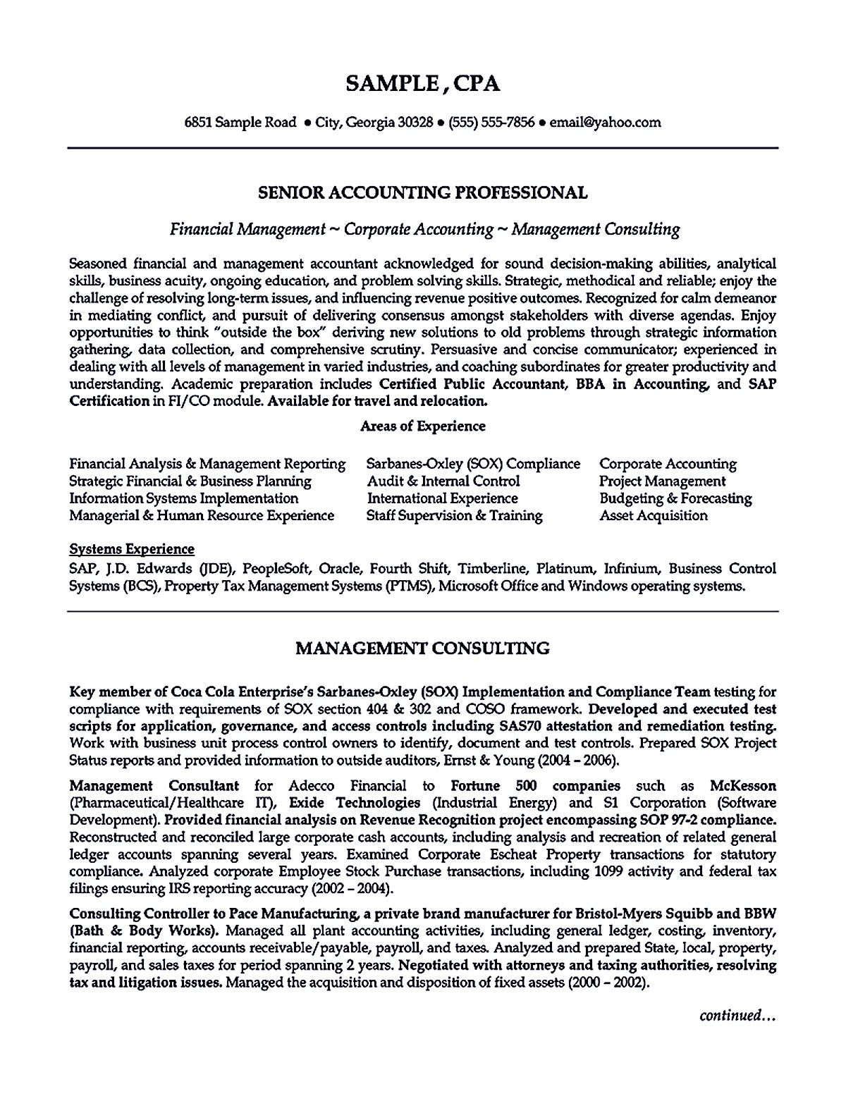 Outstanding Accountant Resume Sample For Junior And Senior Accountant Resume Cover Letter For Resume Job Resume Template