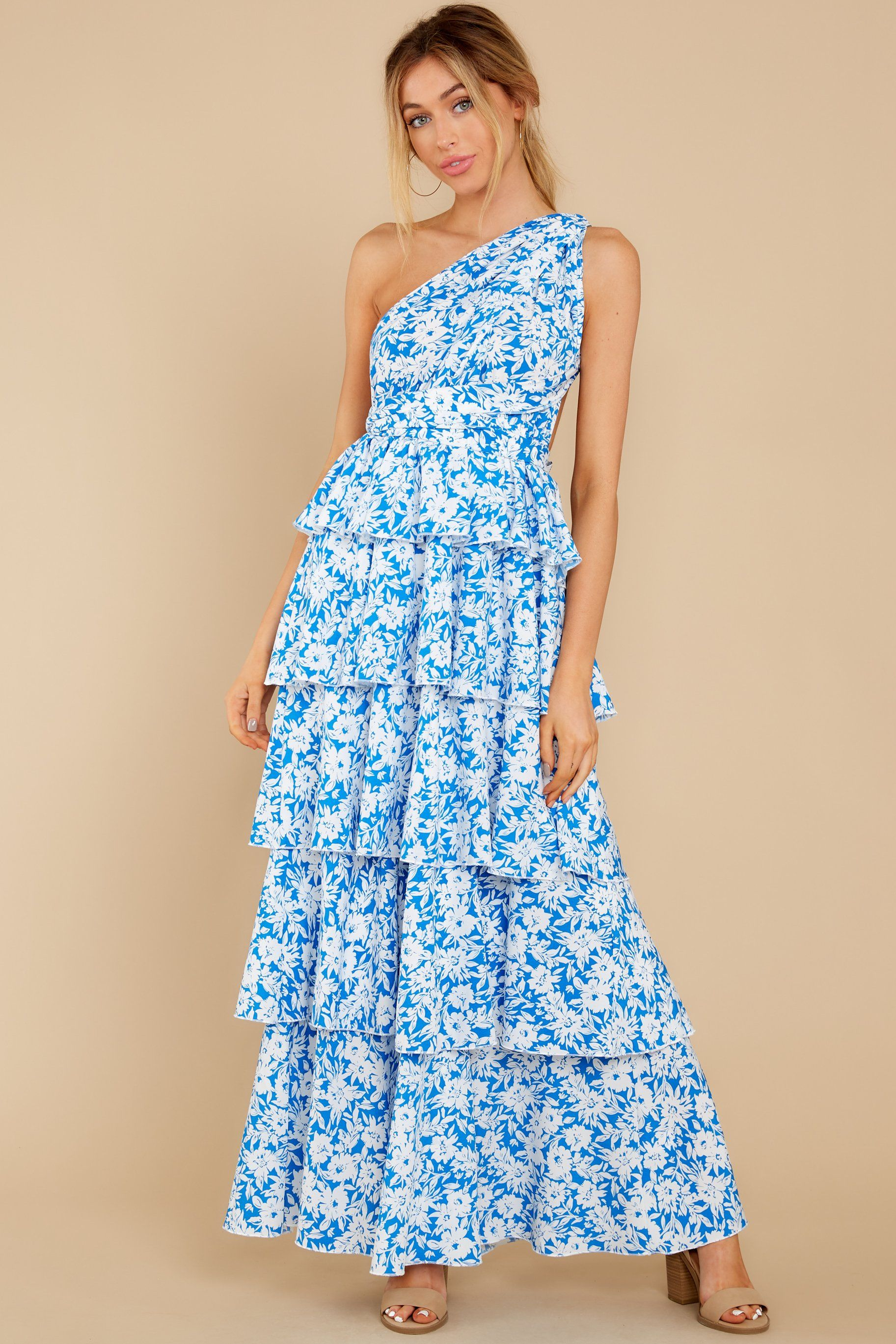 Growing On Me Bright Blue Floral Print Maxi Dress Floral Print Maxi Dress Printed Maxi Dress Shop Red Dress [ 2738 x 1825 Pixel ]