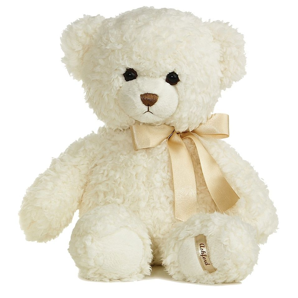 Aurora World Ashford Bear Plush Toy In White Multi - Welcome the newest member of your family into the world by gifting them the Aurora World Ashford Bear. The plush white toy has an irresistibly adorable face and even softer body that is made for receiving endless amounts of cuddles and kisses.