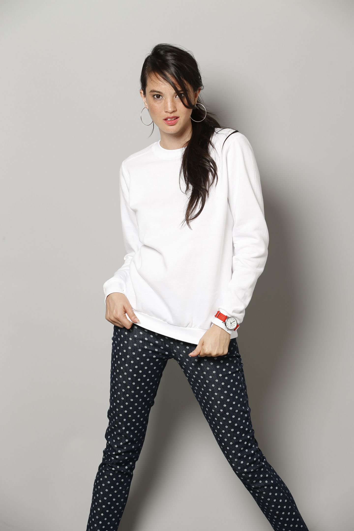 Anvil Ladies' Fashion Crew Neck Sweatshirt (71000FL