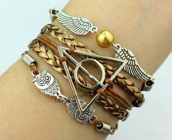 Silvery Harry Potter Bracelet Harry Potter Snitch by handworld, $5.99