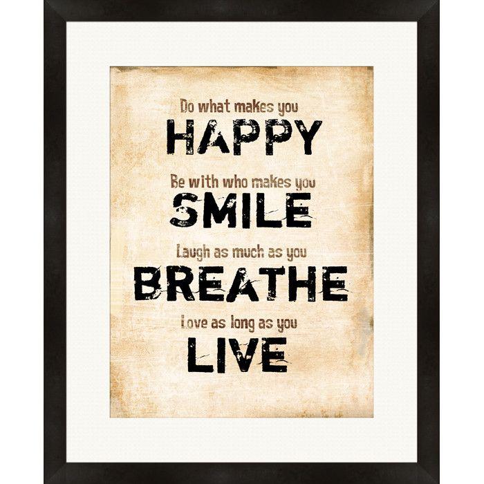 Happy Smile Framed Giclee
