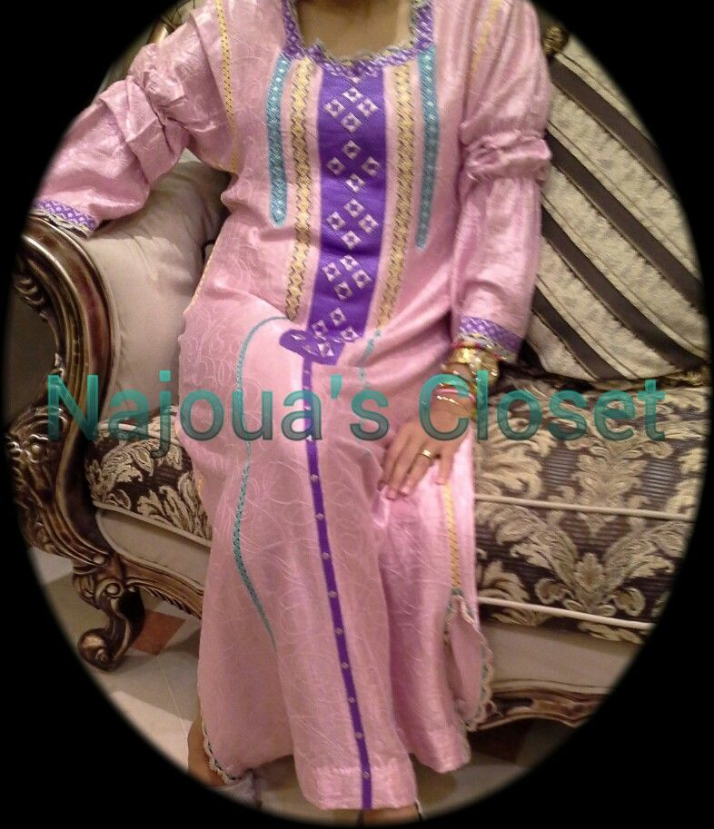 Pink (Randa caftan) colorful by Najoua's Closet  For orders on whats app 00971505968399