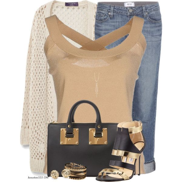Summer Cardigan by houston555-396 on Polyvore featuring polyvore, fashion, style, IKI, Violeta by Mango, Paige Denim, Sophie Hulme, ALDO, Blue Nile and Lana Jewelry
