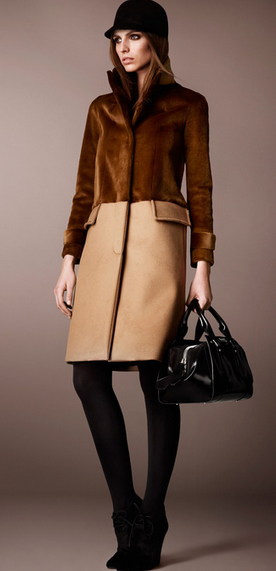 Burberry Pre-Fall 2013  CAMEL, BROWN AND BLACK