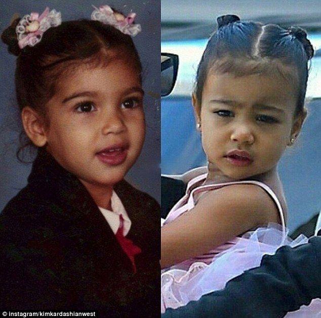 Kim Kardashian Shares Two Way Snap Of Her At North S Age Kim Kardashian And North Kim Kardashian Celebrity Kids