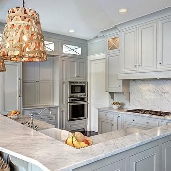 Grey Cabinets Transitional Kitchen Benjamin Moore Gray Owl Endearing Kitchens With Grey Cabinets Decorating Design